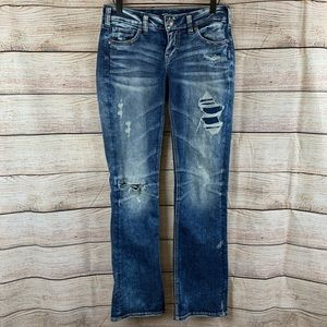 Silver Jeans Aiko Distressed Bootcut Size 26